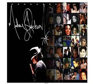 Image is loading New-Michael-Jackson-Shower-Curtain-Bathroom-Gift New Michael Jackson Shower Curtain Bathroom Gift | eBay