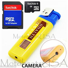 8GB YELLOW Mini DV Lighter Hidden Spy Cam Camera Nanny DVR USB Video Recorder US