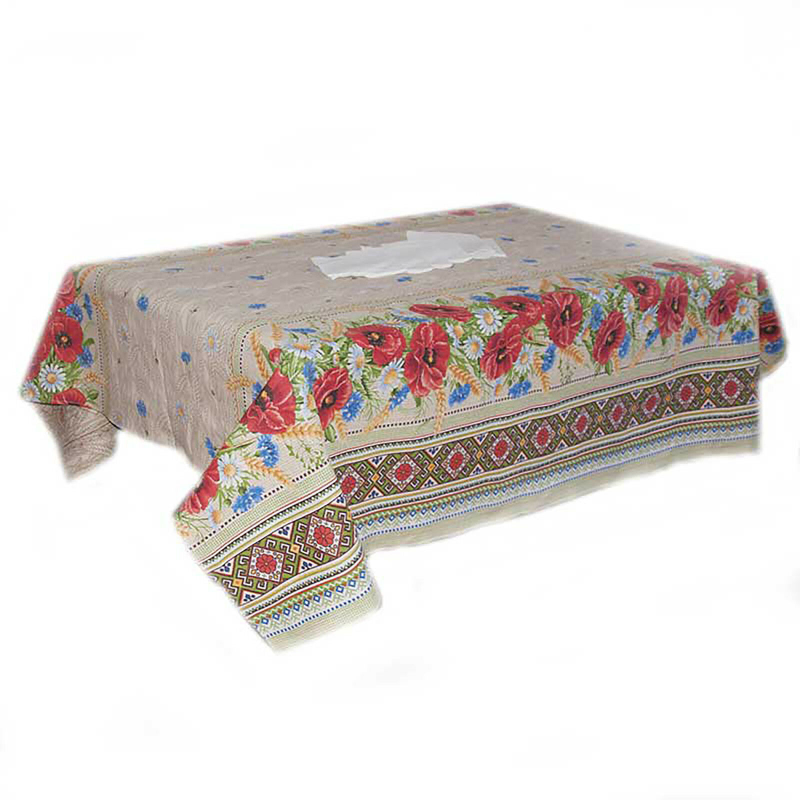 Table Set Nappe Serviettes Russe Style Ornement Bouquet de Wild Fleurs p778