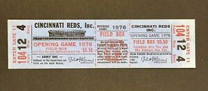 1976 Cincinatti Reds Opening Day VS Houston Astros Baseball Ticket Stub RARE!