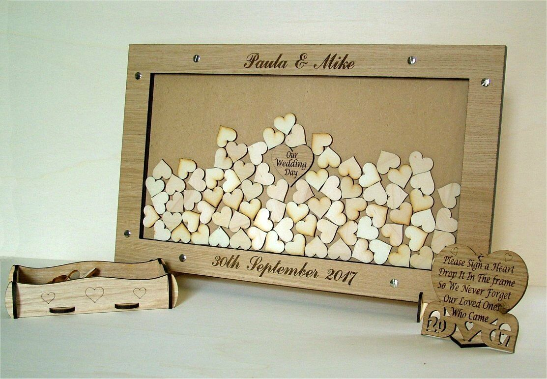Wedding Drop Box Personalised Ideal Wedding Keepsake, Guest Book Alternative t17