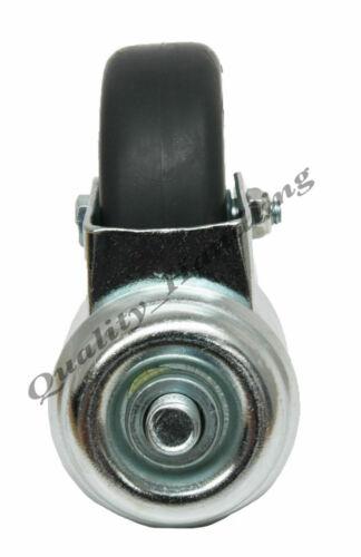 7.6cm 75mm Bolzenloch Rollen 2 Schwenkbar 2 Gebremst mit Schraube Gewinde