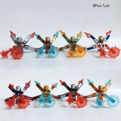 8 pcs lot-Super-Heroes-Infinity-War-Iron-Man-Space-Scuba-Tony lego minifigure