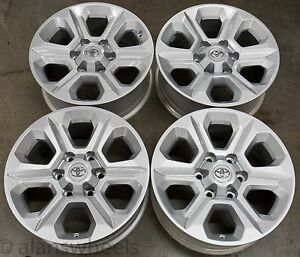 4-New-Takeoff-Toyota-4Runner-Tacoma-17-034-Factory-OEM-Silver-Wheels-Rims-75153