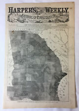 1861 SOUTHERN STATES SLAVE MAP CALDWELL CAMDEN CARTERET CASWELL COUNTY NC HUGE
