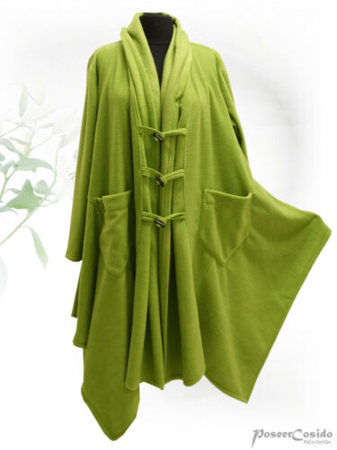POCO Design superposé Fleece Veste-manteau vert Duffle-Look Long L-XL-XXL-XXXL