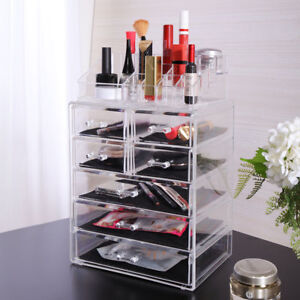 Makeup Acrylic Jewelry Cosmetic Organizer Case Display Holder Drawer