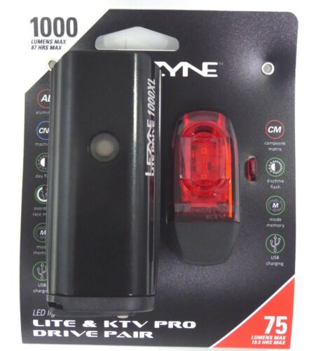 Lezyne 1000XL and KTV Pro Smart Pair Front//Rear