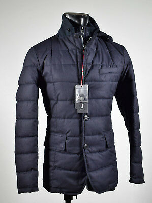 Jacket Field Jacket Talent Blue in Eco Feather with Detachable Bib Anti Wind | eBay