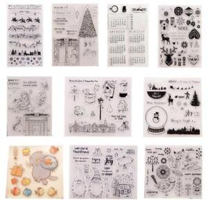 Silikon Clear Stamp Transparent Stempel DIY Scrapbook Weihnachten
