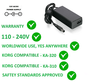 Details about 12V AC/DC POWER SUPPLY ADAPTER FOR KORG M50 M-50 REPLACEMENT  FOR KA320 KA310