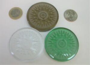 ☆ Crystal Compass Rose Geocoin Thick 3 Coin Set 3 icons &tracking #s Unactivated