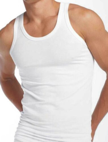 1//3//6 Mens Executive Quality UK Made Pure 100/% Cotton White Interlock Vest S-3XL