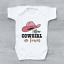 Nouveau Cowgirl en ville Grossesse révéler Nouveauté filles bébé grandir Body