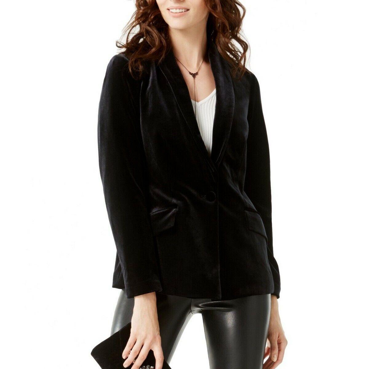 INC Womens Velvet Single Vent One-Button Blazer