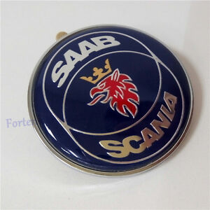 Saab-Scania-9-3-9000-900-Resina-Front-Hood-Bonnet-Insignia-50mm-Nuevo-parte-4522884