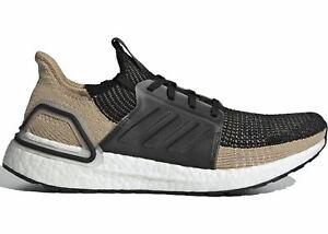 Mens-Adidas-Ultra-Boost-2019-Raw-Sand-Core-Black-Grey-Two-F35241