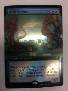 MTG-Theros-Beyond-Death-Nadir-Kraken-Extended-Art-Foil-NM