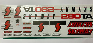 old school bmx decals stickers 1985 skyway street beat set white silver on clear