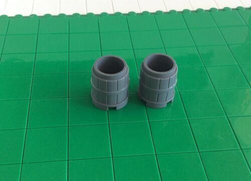 2489 L # Lego Knights Castle Barrel New Dark Grey 2 Piece