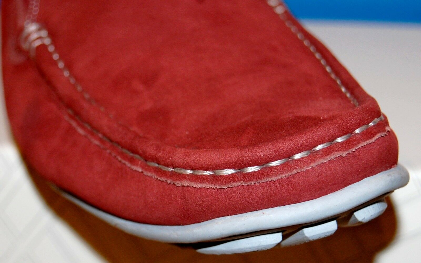 14TH & Union Men Red Grape Moccasins Nubuck Loafer Driving Shoes Moccasins Grape Sz US12 a33b98