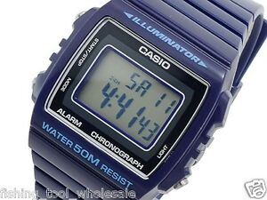 826b65808b9 W-215H-2A BLUE 50m Casio Watch Unisex Digital Alarm Chronograph ...