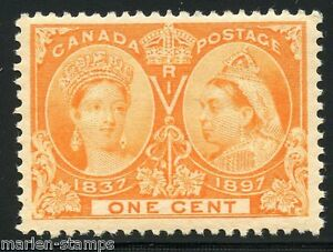 CANADA-JUBILEE-SC-51-1c-XF-CENTERING-BRILLIANT-EXCEPTIONAL-COLOR-MINT-LH-OG