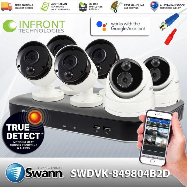 Swann 5MP SWDVK-849804B2D HD Retail CCTV Kit 4x 5MP Bullets & 2x 5MP Dome