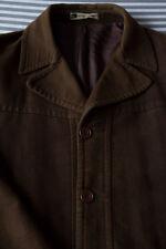 Mens Brown Moleskin Cotton Jacket Coat (R.I. Clothing Co.) -Small Medium Large