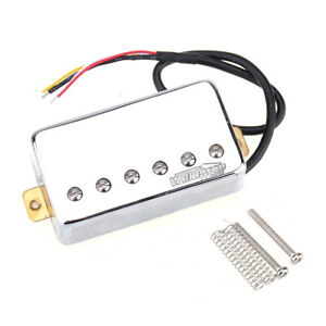 Wilkinson-Chrome-Vintage-Tone-Alnico-5-PAF-Humbucker-Bridge-Pickup-For-LP-Guitar