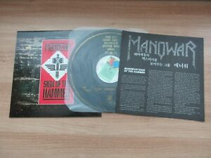 MANOWAR-Sign-Of-The-Hammer-7-Tracks-1985-Korea-Orig-LP-Insert-NM