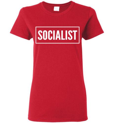 Men Women Youth Kid Tank Long Tee White Box SOCIALIST T-Shirt