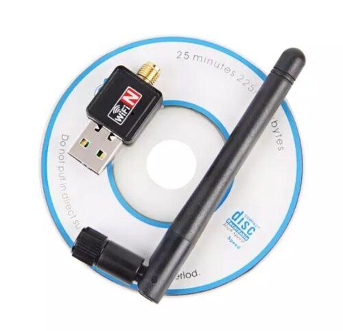 MINI USB WiFi ADAPTER 2dB WIRELESS NETWORK 150Mbps HIGH SPEED CARD 802.11b//n//g