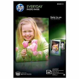 HP-10x15cm-Everyday-Glossy-Photo-Paper-200g-m2-White-1-x-Pack-of-100-Sheets