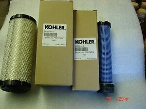 KOHLER-PRIMARY-AND-SECONDARY-AIR-FILTERS-25-083-01-S-amp-25-083-04-S-OEM-ORIGINAL