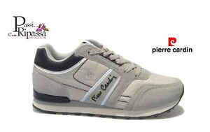 Scarpe da uomo PIERRE CARDIN sneaker eco pelle estive camoscio casual PC801 grey