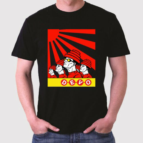 New Devo Band Logo Rock Legend Men/'s Black T-Shirt Size S to 3XL