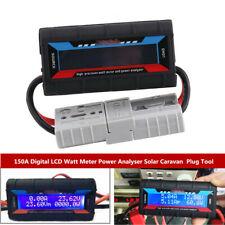 150a Digital Lcd Screen Watt Meter Power Analyser System Solar Caravan Plug Kit