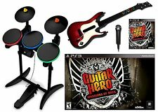 PS3 Guitar Hero WARRIORS OF ROCK Super Bundle Set Game kit WOR GH playstation-3