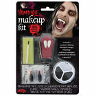 Vampire Make up Kit With Fangs Adults Kids Halloween Face Paint Fancy Dress