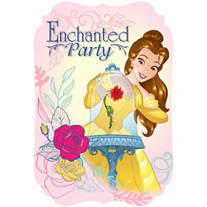 Disney beauty and the beast belle birthday party invitations 8 pack image is loading disney beauty and the beast belle birthday party filmwisefo