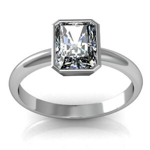 Fine Rings Jewelry & Watches Analytical 1.50 Carat Radiant Coupe Solitaire Anneau Fiançailles Diamant 18k Or Certifié Good Companions For Children As Well As Adults