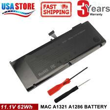 """A1321 Battery for Apple Macbook Pro 15"""" A1286 ( Mid 2009 2010) MC372LL/A 5600mAh"""