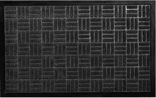 """Black Sturdy Indoor Outdoor 18/"""" x 40/"""" Non Slip Entrance Welcome Doormat"""