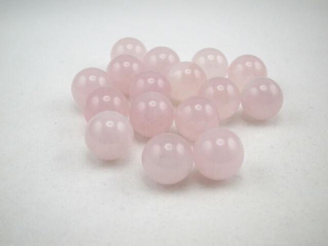 Gemstone Marbles, Rose Quartz, 10pcs