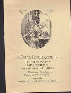 Image Is Loading Good Housekeeping Service Portfolio Furniture Decorating  Housekeeping 1930s
