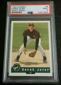 Details About Psa 9 Derek Jeter 1992 Classic Draft Picks 6 Mint Rookie Card Kalamazoo Yankees