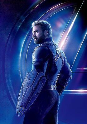 Avengers Infinity War Textless Character Poster Steve Rogers Captain America Ebay