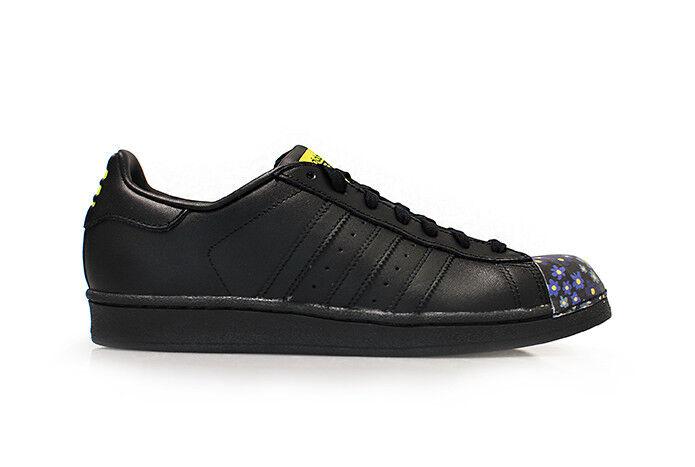 Da Uomo Adidas Superstar Pharrell Supersh-S83352-Nero Giallo Scarpe Da Ginnastica Scarpe classiche da uomo