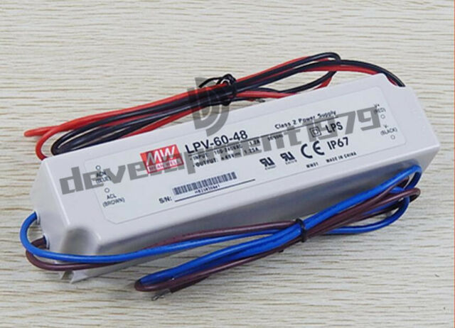 Mean Well NPF-60D-48 48V 1.25A 60W Single Output Switching with PFC LED Power Supply PowerNex